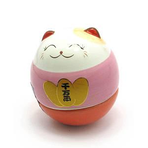 Кошка Манэки-нэко неваляшка (6х5,5х5,5 см) ( 27943)