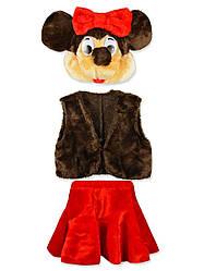 Детский карнавальный костюм Минни Маус 2-5лет