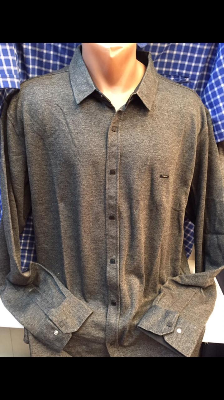 Турецкие мужские рубашки больших размеров утеплённые Taft