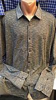 Турецкие мужские рубашки Тафт больших размеров утеплённые , фото 1