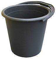 """Ведро пластиковое 10 литров черное """"ХАРПЛАСТМАСС"""" + Видео"""