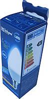 Лампа светодиодная свеча Iskra LED 7W (аналог 50 Вт) цоколь E14 колба C37 4000K (белый свет)