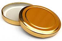 """Крышка TWIST-OFF Ø 66 мм (для стерилизации 120-130 °C) для майонезных банок желтая (лак) """"Слобожанка"""""""