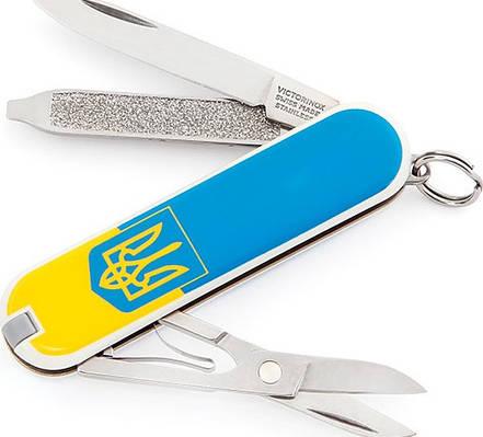Оригинальный нож-брилок Victorinox Сlassic 06223.7R3 синий