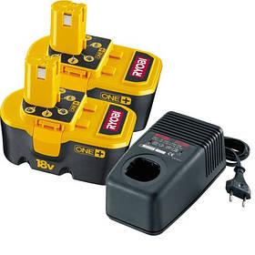 Аккумуляторы+зарядное устройство Ryobi BCP1817/2SM