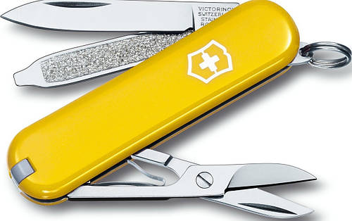 Качественный нож-брилок Victorinox Сlassic SD 06223.8  желтый