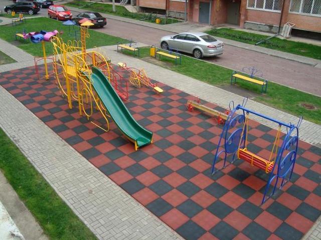 Резиновая плитка для детских площадок Eco Standard