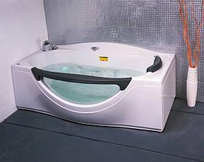 Ванна прямоугольная с гидромассажем и пневмокнопкой 1800*990*680 мм, с окошком, фото 2