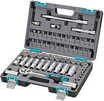 Набор инструментов 1/2  CrV  пластиковый кейс 60 предметов  STELS 14103