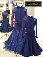 Платье для бальных танцев (бейсик)  Midnight sky - sat-chif  из тканей фирм «Chrisanne» и «DSI» (Великобритани