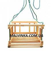 Качель деревянная подвесная 30*30*20   арт 001 Винни Пух.