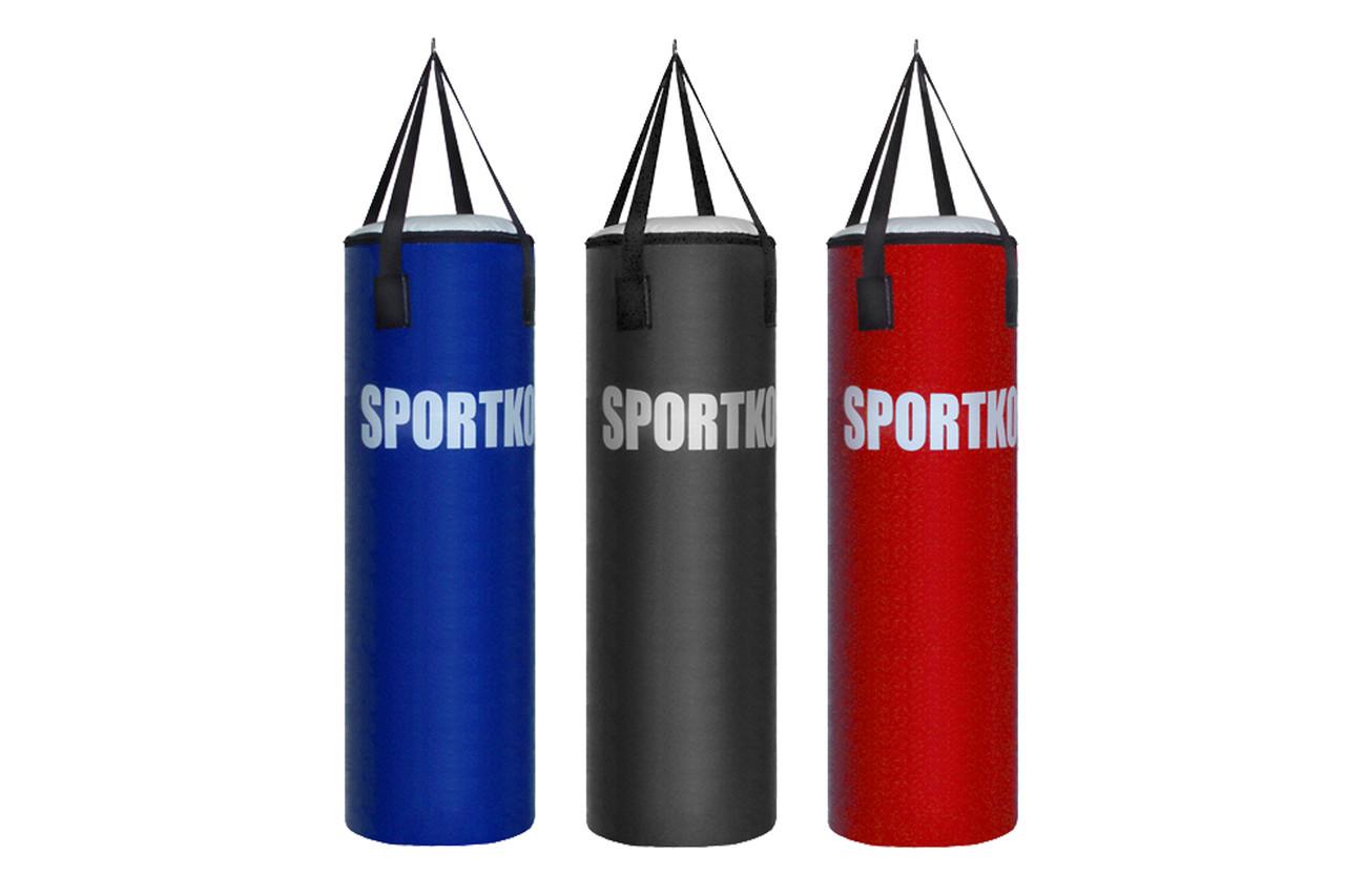 Кожаный боксерский мешок Sportko Классик (высота-85см, диаметр-32см, вес-18-20кг).