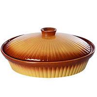 """Сотейник з кришкою """"Ethno Organic"""" 236790 кераміка, 34*22*8.5 см, форми для випічки, посуд, кухонний посуд для"""