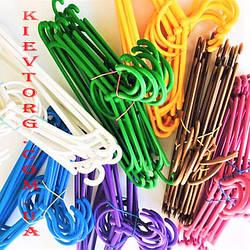 Все цвета! Детские плечики вешалки пластиковые цветные 31 см