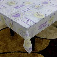 "Клеенка виниловая ажурная Stenson ""Lace"" MA-2361 белая, 3D, 1.37*20м. Горячая распродажа!"