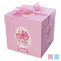 """Коробочка подарункова картонна """"Коляска"""" N00376, розмір 15*15*15см, різні кольори, коробка для подарунків,"""