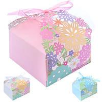 Бонбоньерка (коробочка для конфет) Heather N00479 в упаковке 50 шт, 7*7см, бонбоньерки, свадебные бонбоньерки, бонбоньерки гостям, бонбоньерки на