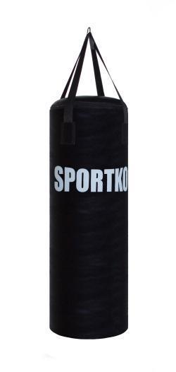 Кожаный боксерский мешок Sportko Боченок (высота-75см, диаметр-29см, вес-15кг).