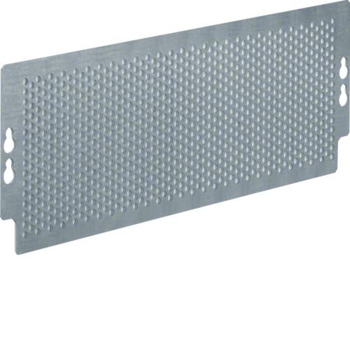 Монтажная пластина перфорированная для мультимедийных щитов Hager Volta на болтах, 95х265 мм
