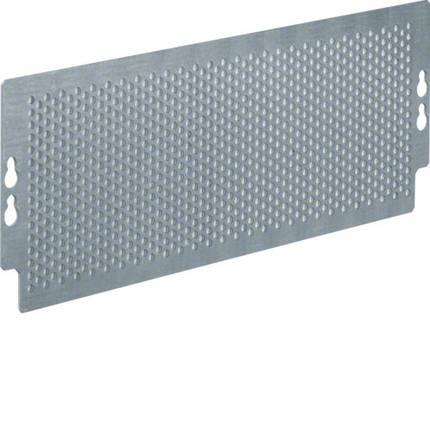 Монтажная пластина перфорированная для мультимедийных щитов Hager Volta на болтах, 95х265 мм, фото 2