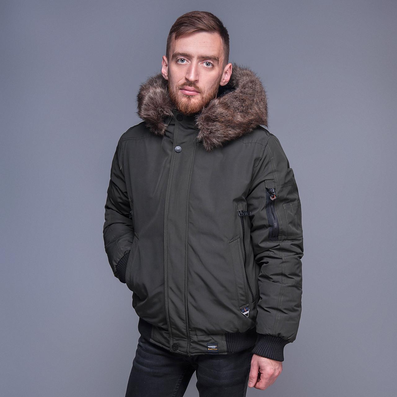 Чоловіча зимова куртка, кольору хакі.