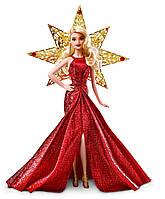 Коллекционная кукла Барби Блондинка в красном платье Barbie 2017 Holiday Doll, Blonde Hair, фото 1