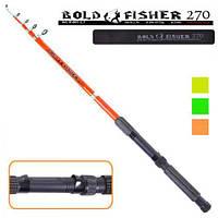 "Спининг телескопический ""Bold fisher"" R-001-2.7 стеклопластик, 2,7 м, 60-120 гр, спиннинг стеклопластик, спиннинг стекловолокно"