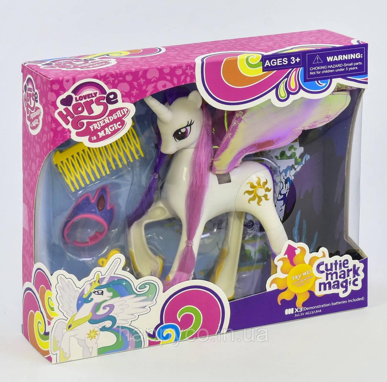 Пони  с аксессуарами, музыка, свет, в коробке , My little pony