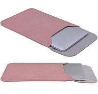 Чехол для Macbook ноутбуков Bestjng в виде конверта розовый, фото 1