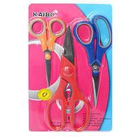 "Ножницы канцелярские ""Kaibo"" R83938 в наборе 3шт, металл / пластик, разные цвета, ножницы, канцтовары, детские ножницы, канцелярские ножницы"