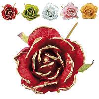 """Декор """"Цветок"""" R84343 пластик, разные цвета, украшение цветы, украшение для дома, искусственные цветы"""