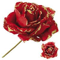 """Декор """"Цветок"""" R84344 пластик, золотистый, роза, украшение цветы, украшение для дома, искусственные цветы"""