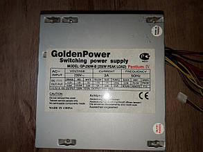 Блок питания  Golden  Pover GP-250W-B   оригинал б.у