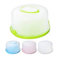 Тортовница R86493 пластик, круглая, с крышкой, 25*13см, кондитерский инвентарь, блюдо, столовая посуда, сервировочные блюда