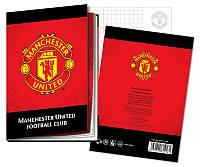 Блокнот твердая обложка, 80л., А6 Manchester United