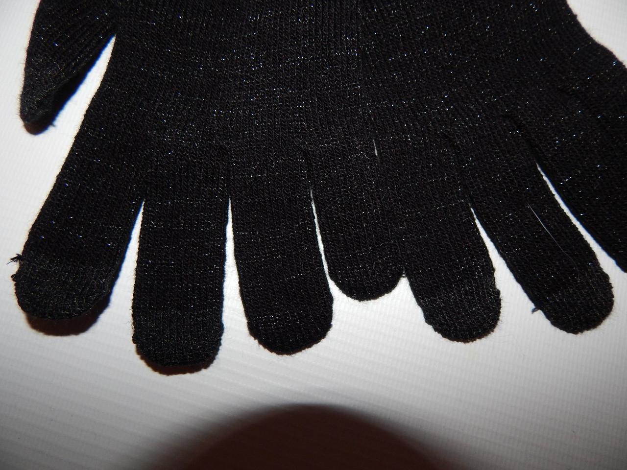 Перчатки женские трикотажные сенсорные с люрексом р.L (7.5) 077PGZ