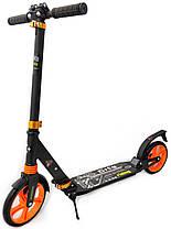 Самокат детский двухколесный Scooter City - Оранжевый, фото 2