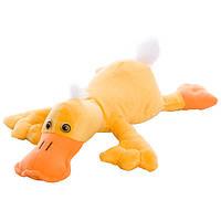 Мягкая игрушка утка Кря, желтая