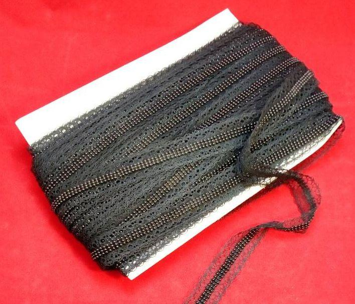 Лента декор СА154 цепь черная черный