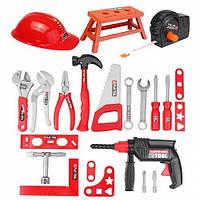 Набор инструментов для детей Набор инструментов для ремонта симулятора для детей Отвертка для сверления Приготовление игрушек - Красный 1TopShop