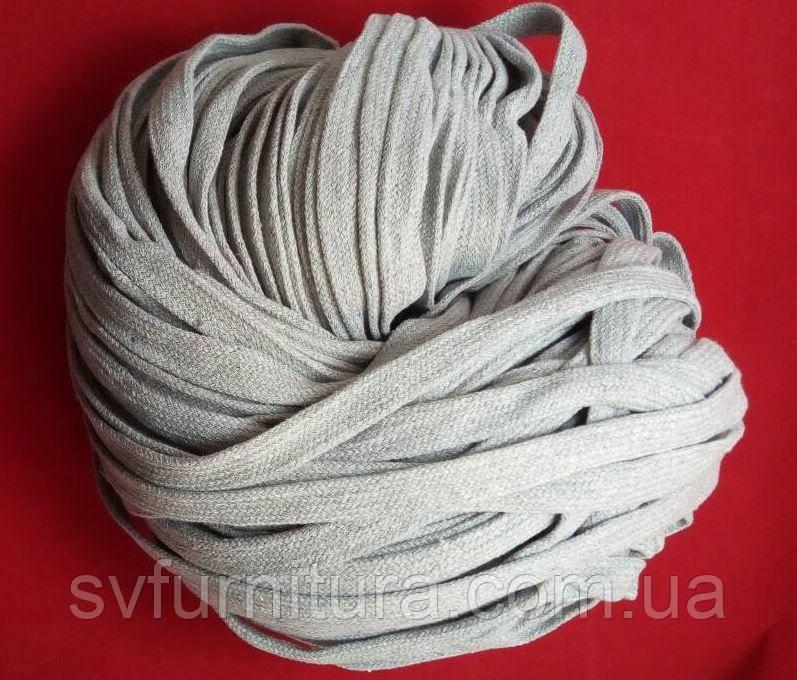 Шнурок плоский серый Ширина: 1.8 см