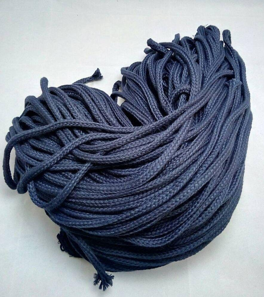 Шнурок трикотажный №9 синий Ширина: 0.8 см