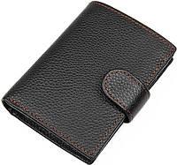 Кошелек мужской Vintage 14591 кожаный Черный, Черный