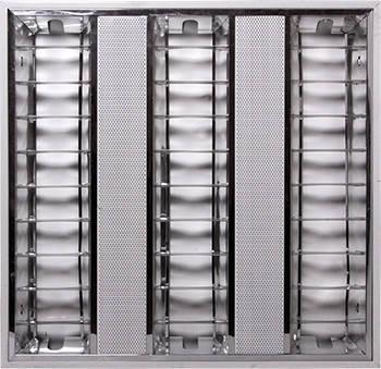 Светильник люминесцентный растровый накладной e.lum.raster.apparent.3.14.el с электронным балластом, лампа Т5 3х14W
