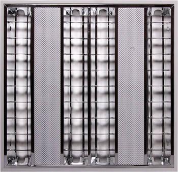 Светильник люминесцентный растровый накладной e.lum.raster.apparent.4.14.el с электронным балластом, лампа Т5 4х14W