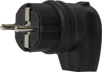 Вилка угловая каучуковая e.plug.rubber.angle.027.16, с з/к, 16А