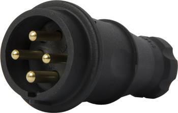 Силовая вилка переносная каучуковая e.plug.rubber.060.16, 4п., 16А