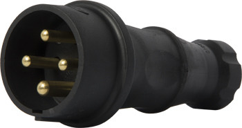 Силовая вилка переносная каучуковая e.plug.rubber.070.32, 4п., 32А