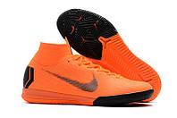 Футзалки (бампы) Nike Mercurial SuperflyX VI Elite IC Total Orange/Black/Total Orange/Volt, фото 1