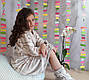 Бамбуковий підлітковий халат з чобітками на зростання 158-164, фото 2